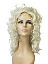 Capless Top Grade Syntetisk blont lockigt långa peruk