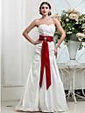 LAN TING BRIDE Sereia Vestido de casamento - Classico e atemporal Elegante e Luxuoso Inspiracao Vintage Longo Coracao Tafeta comLaco