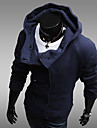 män hoodie dubbelknäppt tröja