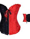 Blandad färg Satin Punk Lolita Bustier Korsett