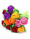 pluma rosas pano arte boligrafo (color al azar)