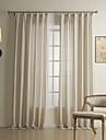 Deux Panneaux Le traitement de fenetre Mediterraneen , Rayure Melange Lin/Coton Materiel Rideaux Tentures Decoration d\'interieur For