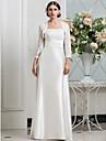 Lanting Bride® A tubino Petite / Taglie forti Abito da sposa - Classico / GlamourAbiti da Sposa con mantellina / Abiti da Sposa