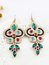 Dame Cercei Picătură Stilul Folk Piatră Preţioasă Ștras Diamante Artificiale Aliaj Bijuterii Pentru Petrecere Zilnic