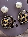 Frauen neue europaeische und amerikanische retro Leoparden Ohrringe E638