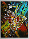 Hand Painted Oil Painting Abstract Musician with Stretched Frame 1309-AB1014