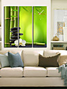 """28 Country Style Vert Horloge murale """"-35"""" En toile 3pcs"""