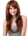 Capless Long Synthetic Golden Blonde Straight Hair Wig Side Bang
