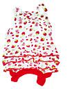 Hundar Klänningar Röd Hundkläder Sommar Frukt