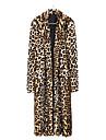 Beautiful Long Sleeve Turndown Faux Fur Party/Casual Coat