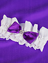 Wedding Garter With Purple Bow