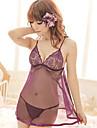 Feminin Babydoll & Slip / Ultra Sexy Pijamale Amestecuri de Bumbac Solid Violet