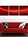 Sträckta kanvas Abstrakt röd bakgrund uppsättning av 3