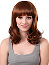Capless Medium Synthetic Golden Curly Hair Wig Full Bang