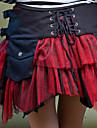 Jupe Gothique Lolita Cosplay Vetrements Lolita Noir Blanc Rouge Mosaique Court Jupe Pour Terylene Coton