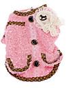 Hundar Kappor Röd / Rosa Hundkläder Vinter Pärla