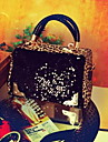 Fashion Casual Leopard Sequin Crossbody Bag(Accessories Letter Pattern On Random)