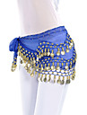 Belly Dance Belt Women\'s Training Chiffon Coins 1 Piece Black / Blue / Pink Belly Dance / Ballroom Spring, Fall, Winter, Summer Hip Scarf
