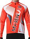 MYSENLAN® Veste de Cyclisme Homme Manches longues Velo Garder au chaud Pare-vent Doublure Polaire Vestimentaire Veste Maillot Hauts/Tops