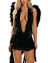 Costumes de Cosplay Ange et Diable Fete / Celebration Deguisement Halloween Couleur Pleine Robe / Ailes Halloween / Carnaval Feminin
