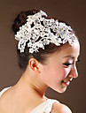 Lace Flowers with Imitation Pearl Wedding Headpieces