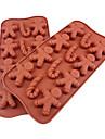 Canne de silicone et de bonhomme de neige de chocolat de forme Plateau (Couleur Randoms)