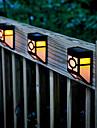 2-LED Warm Yellow Solar Powered Wall Mount Lantern ljus Deck Lamp