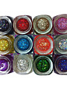 12 Color Glitter Sequins UV Builder Gel UV Color Gel(12PCS,8ML)