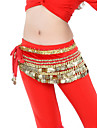 Belly Dance Belt Women\'s Training Velvet Beading / Coins Black / Blue / Green / Orange / Pink / Purple / Red / Royal Blue / White / Yellow