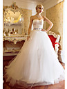 Lanting Bride Ball Gown Petite / Plus Sizes Wedding Dress-Sweep/Brush Train Sweetheart Satin / Tulle