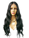 18inch Super Wave Middle Part Indian Remy Hair Lace Front Wig