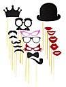 Wedding Décor Funny Vintage Theme  Photo Props for Bride and Groom (18 Pieces)