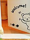 Gullig tecknad Välkomnande Bear Fönster Stickers
