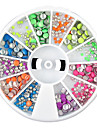 1PCS Wheel Colorful Round Shape Rivet Nail Decorations