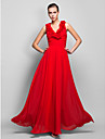 Formal Evening/Prom/Military Ball Dress - Ruby Plus Sizes Sheath/Column V-neck Floor-length Chiffon