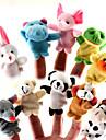 10 Pieces animaux en peluche marionnettes a doigt Set