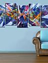 Reproduction transferee sur toile Art abstrait Prisma Ensemble de 5