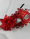 Mascara Princesas Festival/Celebracion Traje de Halloween Rojo / Marron / Dorado / Naranja Un Color / Encaje MascaraHalloween / Carnaval