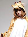 Kigurumi Pijamale Girafă Leotard/Onesie Festival/Sărbătoare Sleepwear Pentru Animale Halloween Portocaliu Peteci Coral Fleece Kigurumi