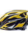 MOON Casque velo jaune + noir + PC EPS 25 Vents VTT Casque de protection