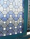 Elegant Classic Blue Geometric Rhobus mönster fönsterfilm