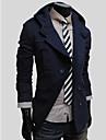 Manteau a double boutonnage Mode Minceur Hoodied de gezi hommes