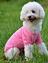 Hundar T-shirt Röd / Grön / Blå / Rosa / Gul / Orange Hundkläder Sommar Enfärgat