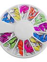 Mixed Candy Color Fluorescent Diamantformade Nail Art Dekorationer