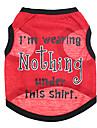 Chien T-shirt Rouge Vetements pour Chien Ete Lettre et chiffre