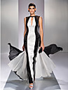 TS Couture® Formal Evening / Prom / Military Ball Dress - Multi-color Plus Sizes / Petite A-line Jewel Floor-length Georgette