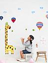 1PCS colore Girafe mur pour enfants Hauteur de mesure
