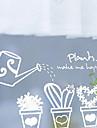 Gullig tecknad Krukväxt mönster fönsterklistermärken