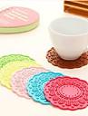 1 enligt bild silikon runda bordstablett heminredning (slumpvis färg)