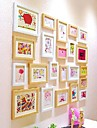 White Natural Color Photo Frame Collection Set of 22